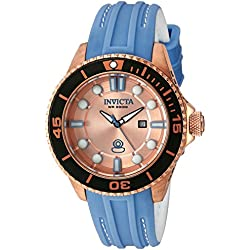 Invicta 20212 Pro Diver Analog Display Swiss Quartz Blue Women's Watch