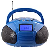 August SE20R - Portable Alarm Clock Radio with Bluetooth Speaker - Mini MP3 Stereo System with Card Reader / USB and AUX in / 2x3W Stereo Speakers / Rechargeable Battery