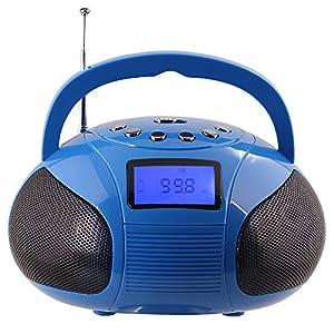 Alarma Despertador - Potente Radio Estéreo con lector de tarjetas