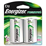 Energizer® - e? NiMH Rechargeable Batteries, D, 2 Batteries/Pack - Sold As 1 Pack - Ideal for high-tech devices.