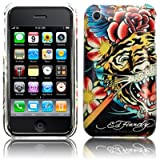 Ed Hardy Apple iPhone 3G 3GS Case Cover - Tiger Hard Back