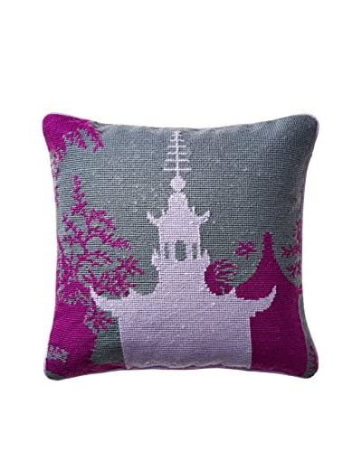 Happy Chic by Jonathan Adler Chloe Pagoda Pillow, Purple/Grey Multi