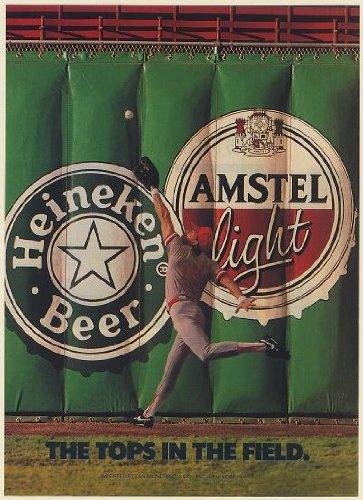 1991-heineken-beer-amstel-light-the-tops-in-the-field-baseball-print-ad-memorabilia-60225