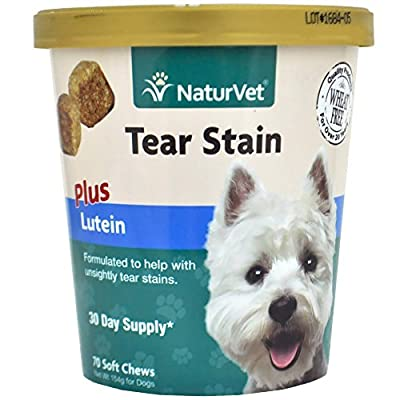 NaturVet Tear Stain Plus Lutein Soft Chew - 70ct