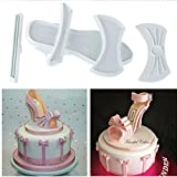 Liangxiang 9 Pcs High Heels Shoes Cake Cutter Mold Craft Fondant Baking Mould (2 Set) (Color: 2 Set)