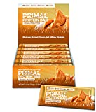 Primal Protein Bar (Peanut Butter) 12 Bars (190 Cal / 20g Grass-Fed Whey) (5 Net Carbs)