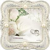 LADONNA ブライダルフレーム メタル ホワイト 写真70 x 70mm MJ45-S2-WH