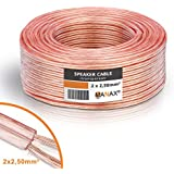 Manax Câble pour enceintes 30 m 2 x 2,5 mm²