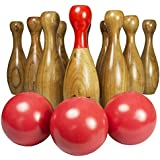 English Skittles Lawn Bowling Set with Storage Carry Bag