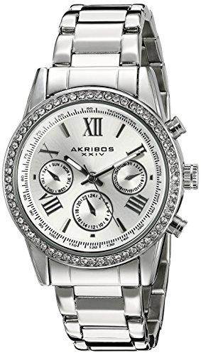 Akribos XXIV Women's AK872SS Round Silver Dial