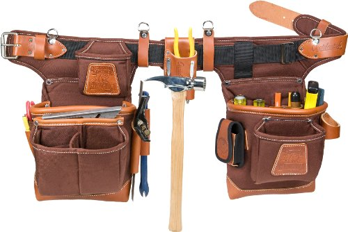 Occidental Leather 9855 Adjust-to-Fit Fat Lip Tool Bag Set - Cafe (Tool Belts Occidental Leather compare prices)