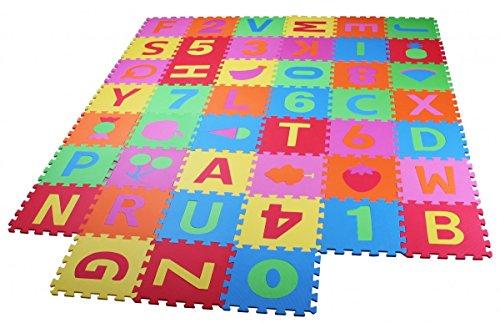 PRINZBERT Puzzlematte Spielmatte Spielteppich Kinderteppich Schaumstoffmatte Matte 114-tlg. MEGA-SET