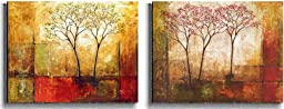Morning Luster I & II by Klung 2-pc Premium Stretched Canvas Set (Ready to Hang)