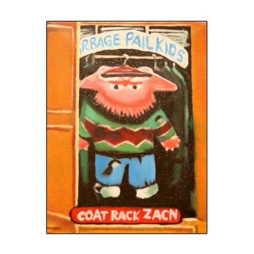 Coat Rack Zacn Hand Painted Garbage Pail Art