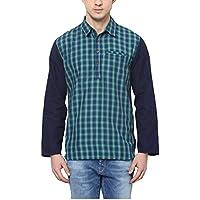 Yepme Men's Green Cotton Kurta Shirts - YPMKURTA0330_42