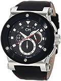 Carlo Monti Herren-Armbanduhr Stahl/schwarz/Leder CM701-122