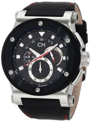 Carlo Monti - CM701-122 - Montre Homme - Quartz - Analogique - Chronomètre - Bracelet cuir noir