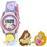 Disney Kids' PRSKD754 Princesses Digital Display Quartz Purple Watch