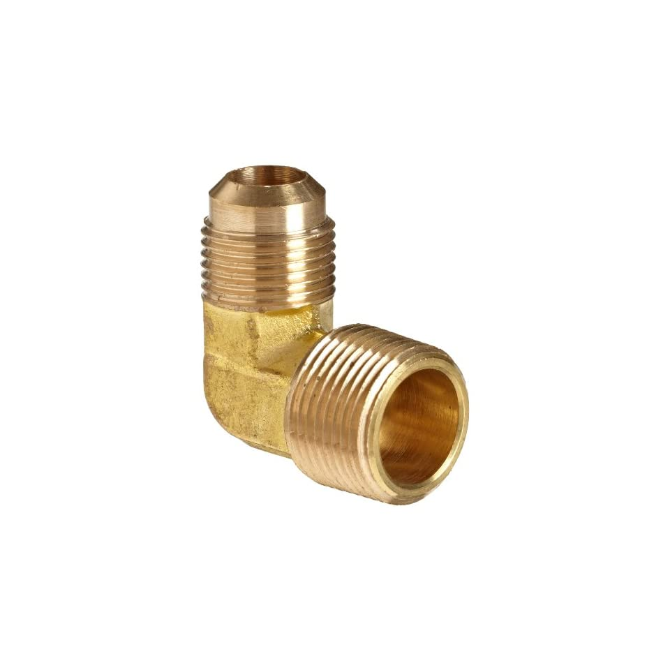 Anderson Metals Brass Tube Fitting, 90 Degree Elbow, Flare x NPT Male