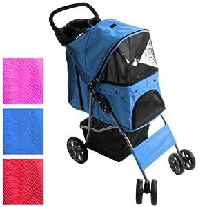 Hunde Pet Wagen Buggy Stroller mit Klappfunktion (Farbwahl) inkl. Einkaufstasche