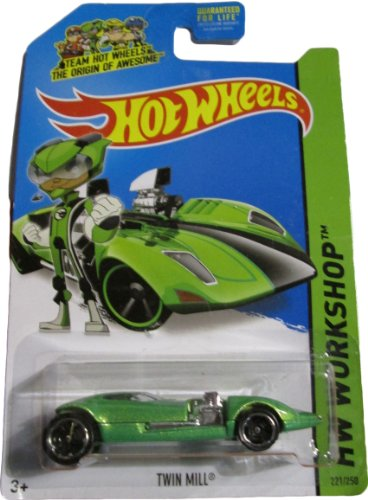 Hot Wheels 2014 Then and Now Hw Workshop Green Twin Mill 221/250 - 1