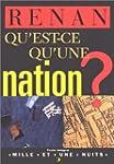 Qu'est-ce qu'une nation ?