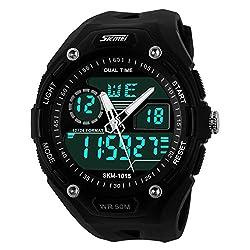 Skmei Analogue-Digital Black Dial Mens Watch-1015BLK