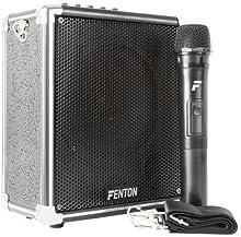 Fenton ST040 Amplificador Portatil 40W BT/MP3/USB/SD/VHF, Woofer 6.5