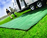 Camco 42880 Reversible Awning Leisure Mat (6 x 9, Green)