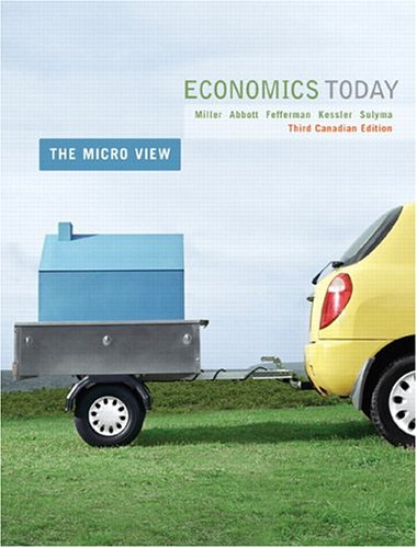 Economics Today: The Micro View, Third Canadian Edition