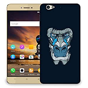 Snoogg Abstract Monkey Face Designer Protective Back Case Cover For GIONEE S6