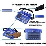 2-Pack-Ipow-Wasserdichte-Tasche-Beutel-Hlle-Unterwassertasche-Bauchtasche-vollkommen-fr-iPhone-Handy-Kamera-iPad-Bargeld-Dokumente-vor-Wasser-schtzen-schwarz-blau