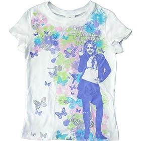 Hannah Montana Girls Hannafly White Tee Shirt