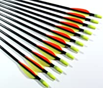 Shiny Black Fiberglass Target Practice Arrows 32&quot; (1 Dozen)