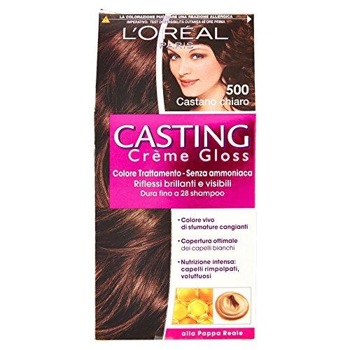L'Oréal Paris Casting Crème Gloss Colore Trattamento senza Ammoniaca, 500 Castano Chiaro