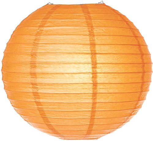 Luna Bazaar Paper Lantern (12-Inch, Light Orange) - Rice Paper Chinese/Japanese Hanging Decoration - For Home Decor, Parties, and Weddings (Rice Paper Lantern 12 compare prices)