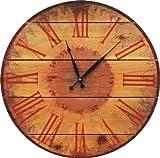 Gizaun Art Warm Sunflower Clock Yard Art, 16-Inch