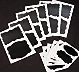24 Chalkboard Stickers - 4 Different Shapes - 3