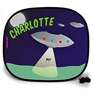 123t OUTTA THIS WORLD ABDUCTION PERSONALISED Baby/Child Vehicle Sunshade x 1