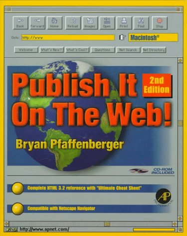 Publish It on the Web (Book + Mac Cd-Rom)