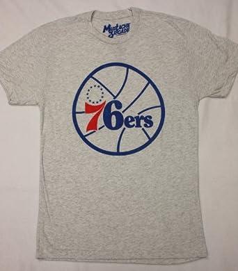 NBA Philadelphia 76ers Vintage Logo T-Shirt by Hardwood Classics by Hardwood Classics Presented Moustache Brigade