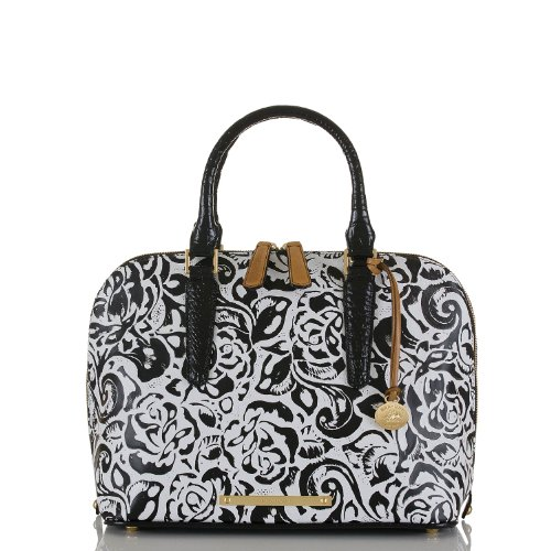Vivian Dome Satchel<br>Black Rousseau