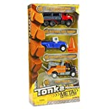 Tonka Metal Diecast Bodies 3 Pack - Natural Gas Tanker, Vintage Cargo Carrier & Tow Truck