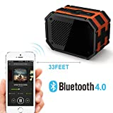 Waterproof Speaker, Mpow Armor Portable Bluetooth Speaker,5W Strong Drive/Passive Radiator for Waterproof Shockproof and Dustproof Outdoor/Shower/MP3/PC Speakers with Emergency Power Surpply