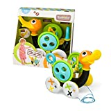 Pull Toy – Pull Along Duck Whistles As Toddlers Pull It (With Bead Coaster) by Yookidoo