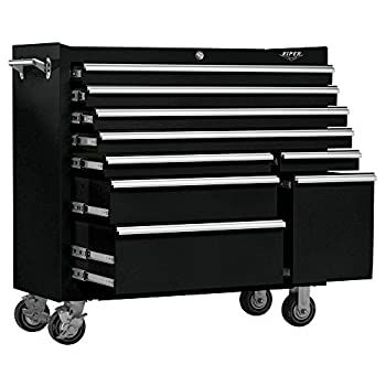 Viper Tool Storage V4109BLR 41-Inch 9-Drawer 18G Steel Rolling Tool Cabinet, Black