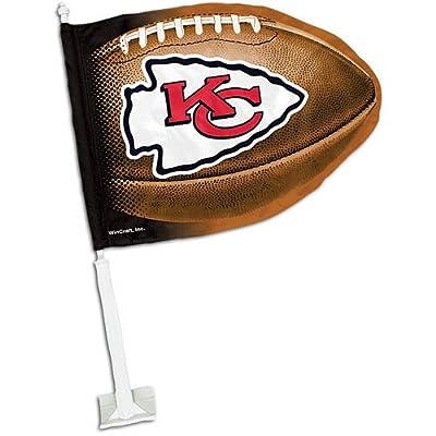 Chiefs WinCraft Football-Shaped Car Flag