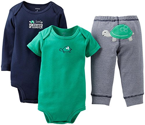 "Carter'S Baby Boys' 3 Piece ""Take Me Away"" Set (Baby) - Lil Speedster - Navy - 12 Months front-222471"