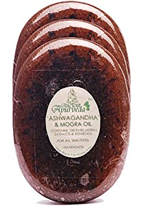 Ancient Ayurveda Ashwagandha and Mogra Oil Luxury Soap Pack of 3