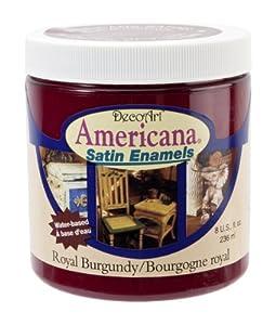 DecoArt DSA14-36 Americana Satin Enamels, 8-Ounce, Royal Burgundy